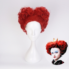 Alice in Wonderland 2 The Red Queen Cosplay Synthetic Curly Wig