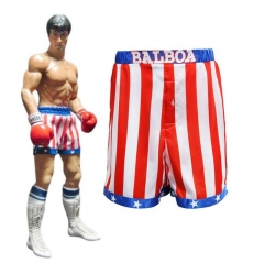 Rocky Balboa Cosplay Costume Robe and Shorts Apollo Movie Boxer American Flag Boxing