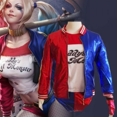 Suicide Squad Harley Quinn Cosplay Costume Whole Set