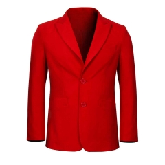 Joker Red Jacket Coat Joaquin Phoenix Arthur Fleck Cosplay Costume
