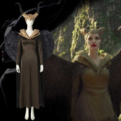 Movie Maleficent 2 Angelina Jolie Costume Halloween Cosplay Outfits