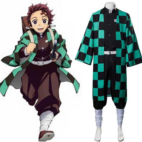 Kamado Tanjirou Uniform Demon Slayer: Kimetsu no Yaiba Cosplay Costume