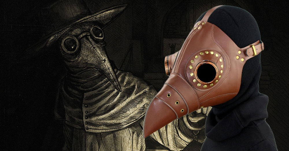 Medieval Steampunk Black Death Plague Doctor Bird Beak Mask