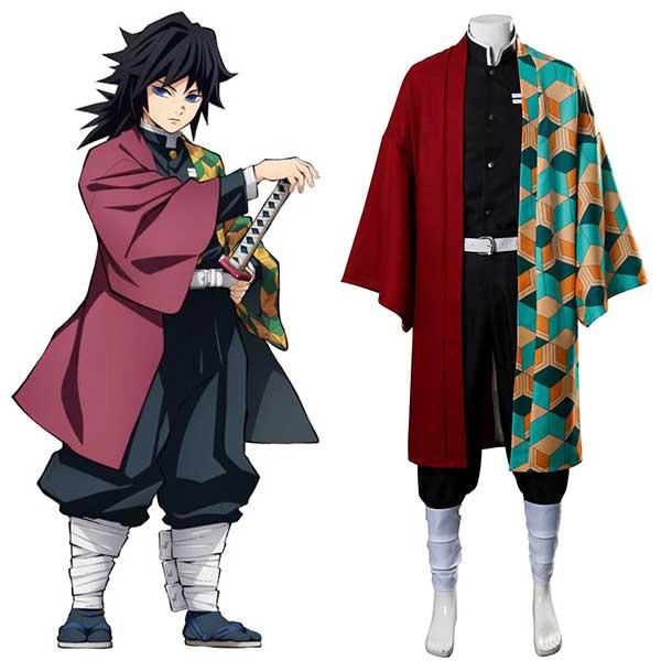 Demon Slayer: Kimetsu no Yaiba Tomioka Giyuu Uniform Cosplay Costume