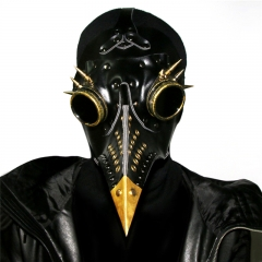 Medieval Steampunk Black Death Plague Doctor Bird Beak Mask