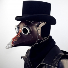 Medieval Steampunk Black Death Plague Doctor Bird Beak Mask For Retro Halloween Cosplay