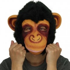 Creepy Gorilla Mask Head Halloween / Monkey Latex Mask Scary Animal Masks Masquerade Cosplay Party Mask