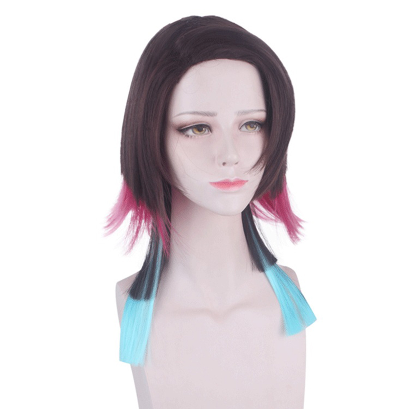 Anime Demon Slayer Kimetsu no Yaiba Enmu Short Cospaly Synthetic Wig