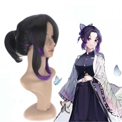Shinobu Kocho Cospaly Synthetic Halloween Wig Anime Demon Slayer Kimetsu no Yaiba
