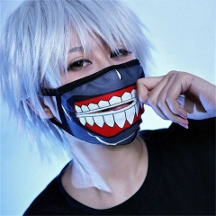 Anime Tokyo Ghoul Kaneki Ken Halloween Cosplay Face Masks Zipper Cycling Anti-Dust Replica