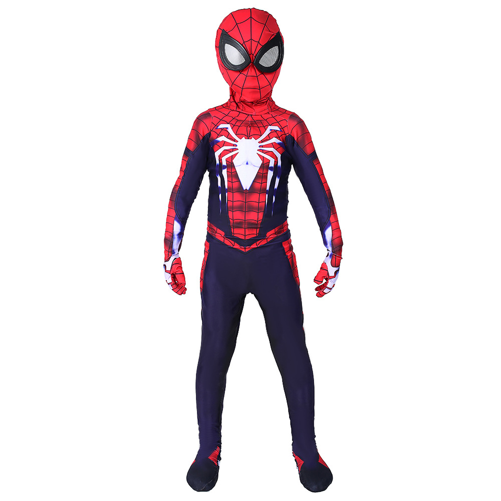 PS4 Spider-Man Spiderman Zentai Jumpsuit Cosplay Costume With Mask