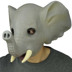 Rubber Creepy Elephant Costume Head Mask Halloween