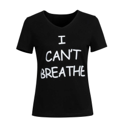 I Can't Breathe T-Shirt Women's Black Protest Tee