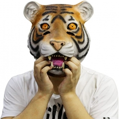 Latex Tiger Mask Rubber Halloween Party Costume Decorations