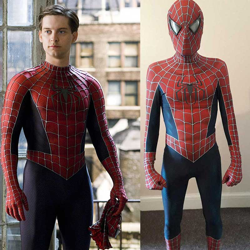 Tobey Maguire Spiderman Suit 3D Print Cosplay Costume
