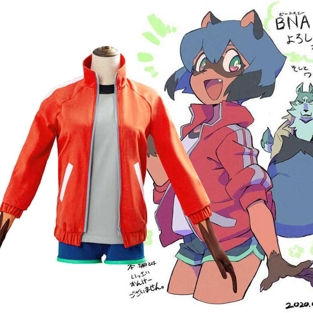Michiru Kagemori Halloween Cosplay Costume Anime Brand New Animal Bna Takerlama