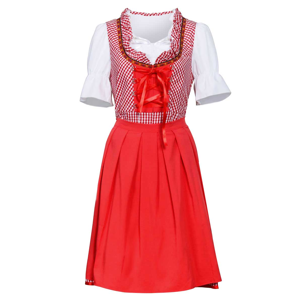 German Oktoberfest Beer Maid Outfit Bavarian Carnival Party Fancy Dress