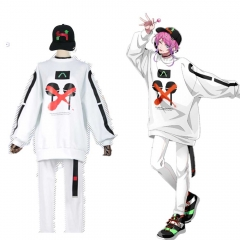 DRB Division Rap Battle The Dirty Dawg Amemura Ramuda White Cosplay Costume