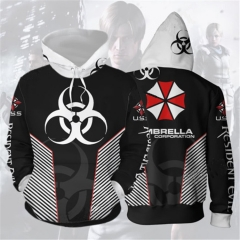 Resident Evil Hoodies Umbrella Corporation Unisex Pullover Sweatshirt