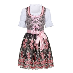 Oktoberfest Costume German Beer Pink Dirndl Dress