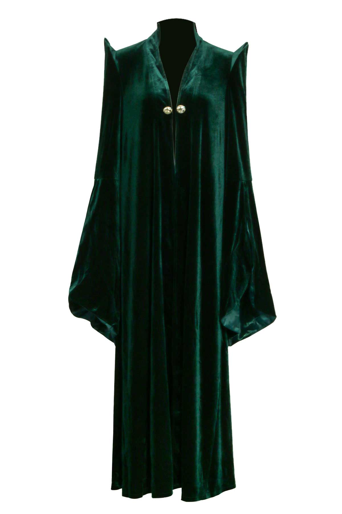 Harry Potter Minerva McGonagall Halloween Cosplay Costume Womens Witch Robe Wizard Sorceress-Takerlama