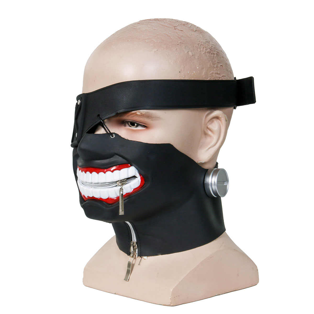 Takerlama Kaneki Ken Halloween Cosplay Face Masks  Anime Tokyo Ghoul Zipper Cycling Anti-Dust