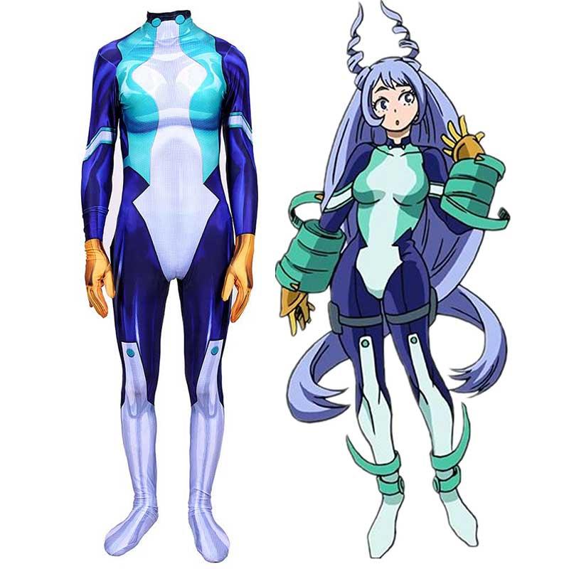 My Hero Academia Nejire Hado Hero Costume Jumpsuit Cosplay Costume Takerlama