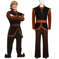 Disney Frozen 2 Adult Kristoff Costume Halloween Cosplay Outfits