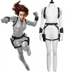 Black Widow Natasha Romanoff White Suit Superhero Halloween Costume