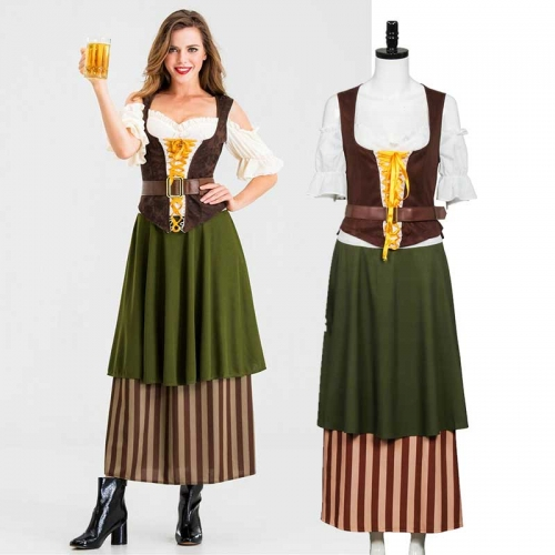 German Beer Festival Oktoberfest Women Maid Dress Cosplay Costume
