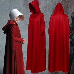 The Handmaid's Tale Offred Halloween Cosplay Costume Cloak