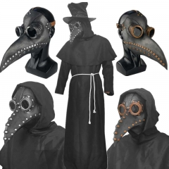Gothic Plague Doctor Bird Beak Halloween Costume Mask