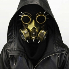 Steampunk Gas Halloween Cosplay Mask With Victorian Goggles for Masquerade