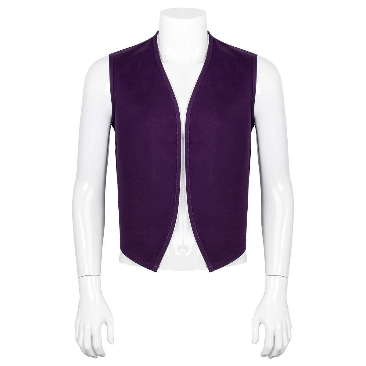 Disney Anime Aladdin Purple Vest Outfit Men Cosplay Costume Adult One Thousand and One Nights stories
