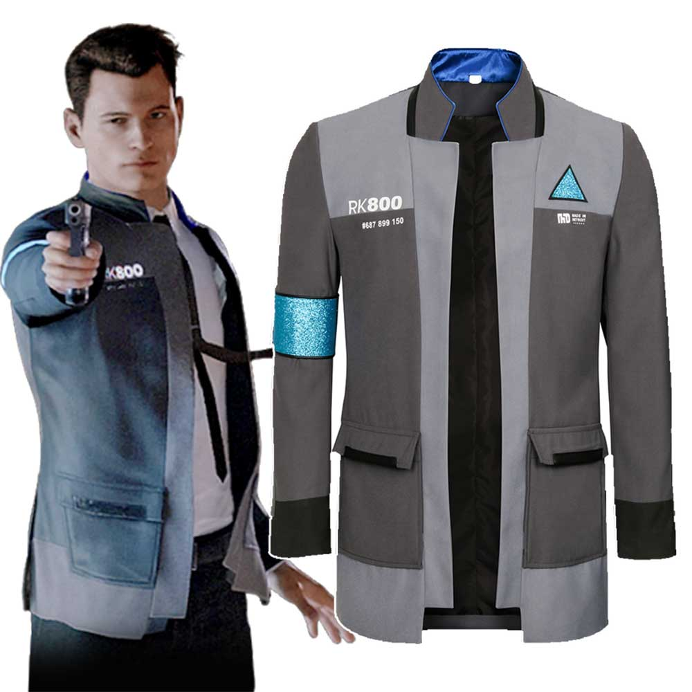 Game Detroit Become Human Connor Rk800 Agent Suit Uniform Tight Unifrom Costume For Halloween Carnival Cosplay