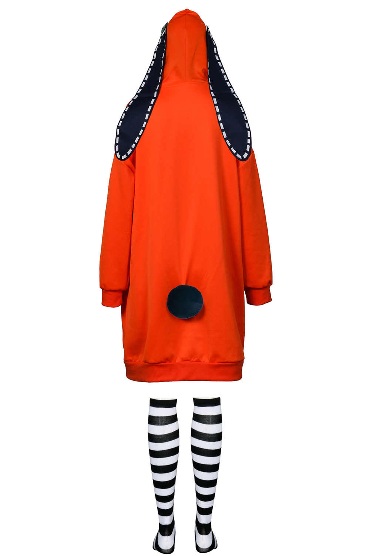 Kakegurui Yomoduki Runa Bunny Cosplay Costume Hoodie Coat ...