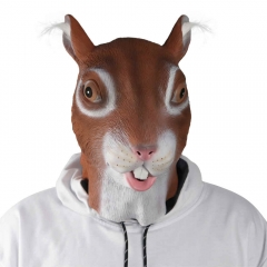 Animal Head Latex Face Squirrel Mask For Halloween Carnival Cosplay Party