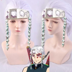 Anime Cosplay Wig Uzui Tengen Silver Hair Demon Slayer Kimetsu No Yaiba