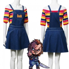 Child's Play Chucky Glenn Halloween Cosplay Costume Female Women Adult
