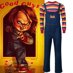 Child's Play Buddi Men Cosplay Costume Chucky Voodoo Halloween Outfits