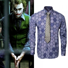 Batman The Dark Knight Heath Ledger Joker Cosplay Costume Shirt Tie