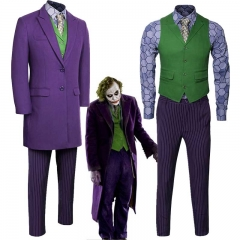 Batman Dark Knight Rise Heath Ledger Joker Halloween Cosplay Costume