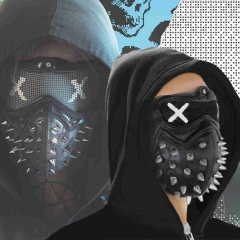 Game Watch Dogs 2 Wrench Face Mask Latex Marcus Cosplay Props Accessories