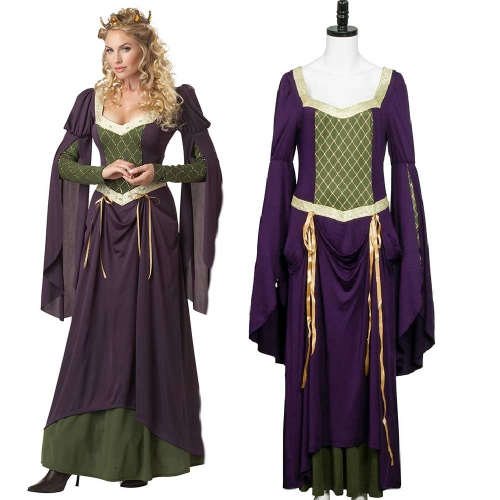 Lady in Waiting Dress German Beer Festival Oktoberfest Maid Cosplay Costume-Takerlama