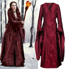 Game of Thrones Melisandre Cosplay Costume Season 8 The Final Season Dress