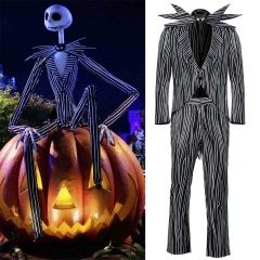 Adult Jack Skellington Pumpkin King Halloween Costume Plus Size The Nightmare Before Christmas