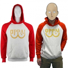 Anime One Punch Man Superhero Saitama Oppai Hoodie
