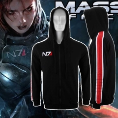 Video Game Mass Effect 3 N7 Paragon Men's Zip-Up Hoodie Sweatshirt
