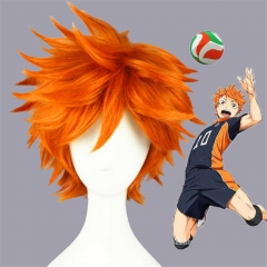 Anime Haikyuu Hinata Shoyo Halloween Cosplay Costume Wig Hair