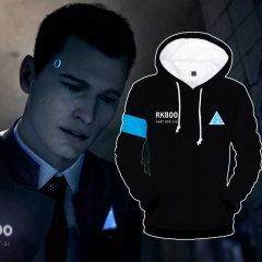 Detroit: Become Human Connor RK800 3D Print Black Hoodie